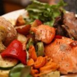 London Broil & Salmon Plated Meal